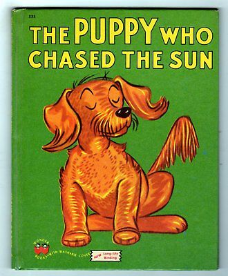 THE PUPPY WHO CHASED THE SUN ~ vintage Wonder Book ~ many old children books