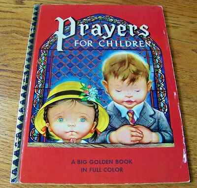 "PRAYERS FOR CHILDREN ~ 1st ""A"" ed. Big Golden Book ~ Eloise Wilkin, many books!"