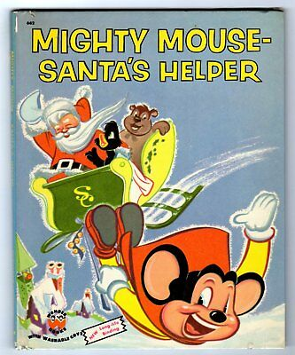 MIGHTY MOUSE - SANTA'S HELPER ~ vintage Wonder Book, many Golden, other books!