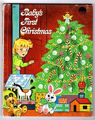 BABY'S FIRST CHRISTMAS ~ vintage chlldrens Wonder Book, no writing, many books!