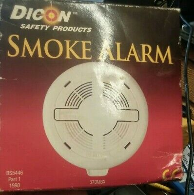2 DICON 370MBX Mains Ionisation Smoke Alarm with Battery backup