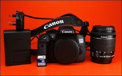 Canon EOS 750D DSLR Camera + 18-55mm Zoom Lens kit + Battery & Charger & 8GB SD