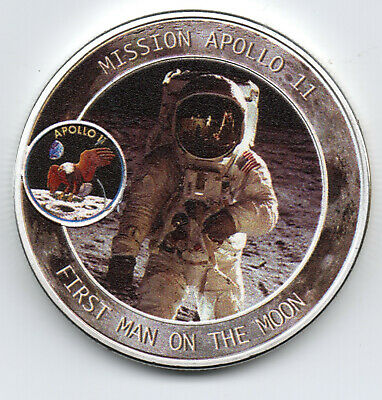 Apollo Astronaut Silver Coin Moon Landing Neil Armstrong Space Exploration NASA