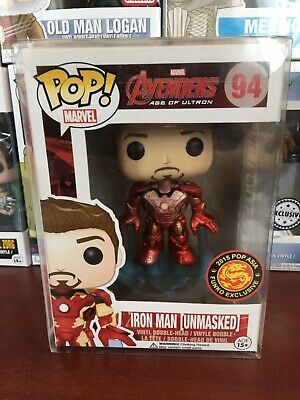 Funko Pop Marvel Avengers Iron Man 94 Unmasked Exclusive Asia Soft Plastic Cover