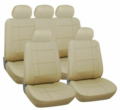 BMW 3 SERIES E30 (1983-1992) Full Set Luxury BEIGE Leather Look Car Seat Covers