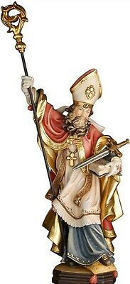 Statue St.Martin Vilfredo cm 20 Carved Wooden of Valgardena Decorated by Hand