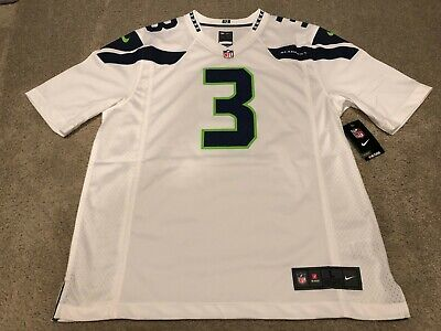 online store 9bc38 71aa7 NIKE MEN'S SEATTLE Seahawks Russell Wilson Game White Jersey ...