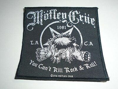 Motley Crue You Can't Kill Rock & Roll Woven Patch