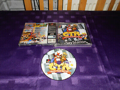 CTR Crash Team Racing - Original Black Label Playstation 1 Game - CTR - PS1 Game