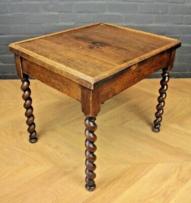 Antique Oak Barley Twist Occasional Table Side Table Coffee Table