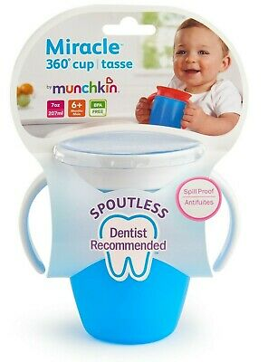 Munchkin 7 Oz Miracle® Trainer Cup Blue BPA free Supports Muscle Development