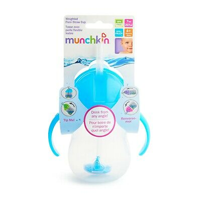 Munchkin Click Lock Weighted Flexi Straw Cup 7 oz, Spill Proof