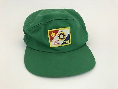 Vintage 1977 National Jamboree Boy Scouts of America Baseball Cap Hat - BSA
