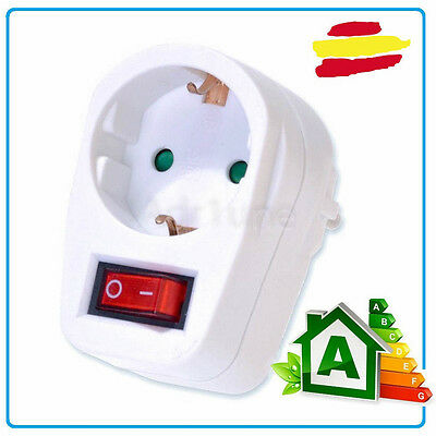 enchufe con interruptor 3680W toma corriente red enchufe on off adaptador schuko
