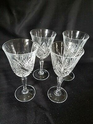Four French Crystal Wine/Water Goblets