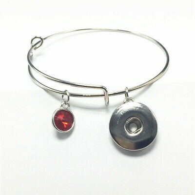 Fashion Silver Tone Expandable Wire Charm with pendant Bracelet Bangle Red !