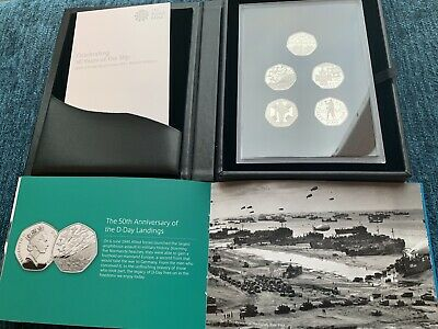 New 2019 Celebrating 50 Years Of The 50p Military base PROOF coin set 3500 made