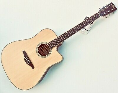VINTAGE VEC501N Electro-Acoustic Guitar. Fishman Isys+ Preamp. Improved set-Up