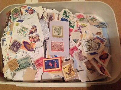 975 Grams of Unsorted Charity sourced World and Commonweath Stamps with SCARER @