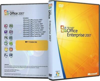 Cd Microsoft Office Enterprise 2007 Italiano + Product Key Licenza Attivazione