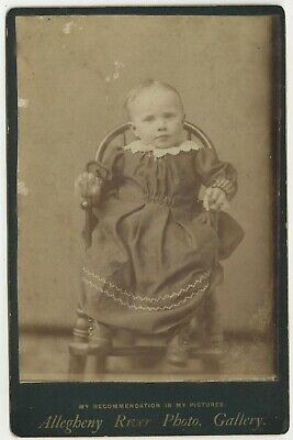 "Little Girl Child ""Lizzie"" Cabinet Card Photograph Allegheny River Photo Gallery"