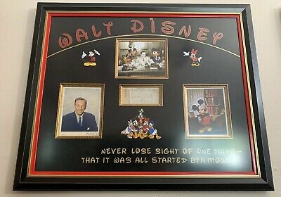 Walt Disney Signed Autograph Cut Framed 8x10 Original Photos Phil Sears COA