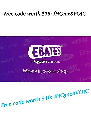 $10 CODE $ SHOPPING $ EBATES Use me as your referral & earn $10 code: fHQme8VOtC