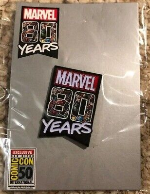 2019 Comic-Con Exclusive Marvel Comics 80 Year Anniversary Enamel Pin Sdcc