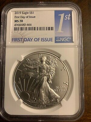 2019 Mint State Silver Eagle NGC MS70 First Day of Issue