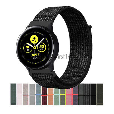 Woven Nylon Sport Loop Wrist Watch Band Strap For Samsung Galaxy Watch Active /2