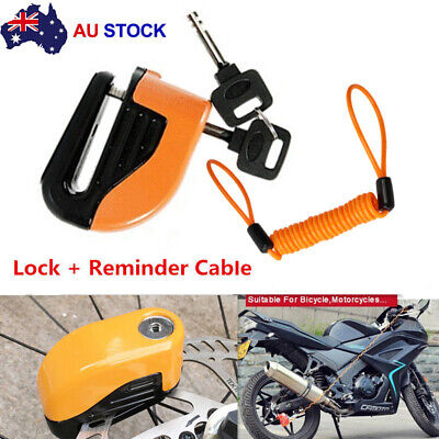 Motorcycle Alarm Disc Lock Motor Bike Brake Security Electronic Rotor Lock AU