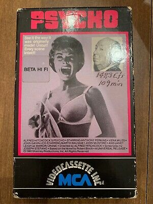 Psycho 1960 Alfred Hitchcock, 1980/1986 MCA Beta HiFi, Not VHS, B/W, Horror