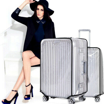 """Transparent PVC Waterproof Suitcase Travel Luggage Protector Cover Case 26""""-30"""""""