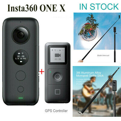 3M Selfie Stick Bullet Handle GPS Smart Remote Control For Insta360 ONE X Camera