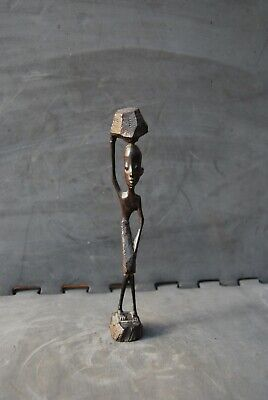 An African ebony carving Skinny Man exceptional quality Mid Century decor