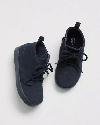 Gap Baby Boy Toddler Dressy Mid-Top Sneakers Shoes Navy Blue Size US 7 / EU 24