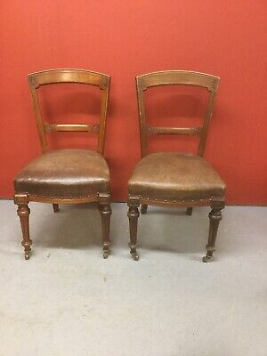 4 Antique Victorian Mahogany Dining Chairs Sn-p