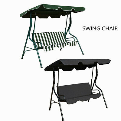 Garden Patio Metal Swing Chair Seat 3 Seater Hammocks Outdoor Bench Seat Lounger