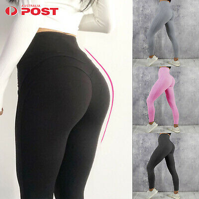 Womens Yoga Pants Push Up Stretch Skinny Pencil Workout Leggings Ruched Jeggings