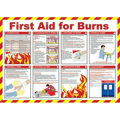 SAFETY FIRST AID First Aid For Burns Poster - 59cm x 42cm A603T