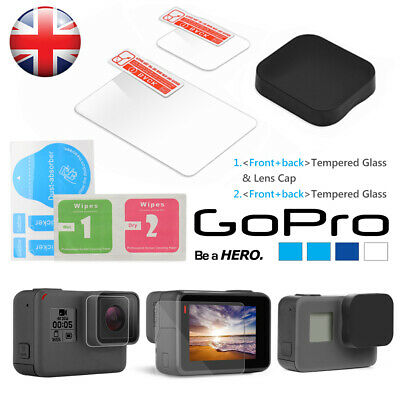 Gopro Hero 7 6 5 Black Screen Protector Tempered Glass Lens - Uk Seller