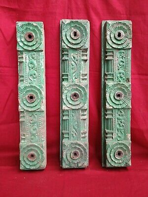 Ancient Antique Wooden Door Panel Beam Vintage Art Decor Estate panel Corbel