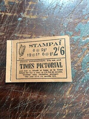 1948. Part Used Eire Shamrock Stamp Booklet