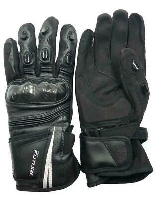 Leather All Weather Motorbike Motorcycle Gloves Carbon Fiber Knuckle