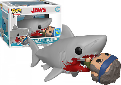 "Funko Pop! Jaws - Shark Biting Quint 6"" Super Sized #760 (2019 SDCC Exclusive)"