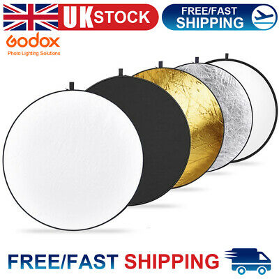 """Godox 5 in 1 80cm 30"""" Light Diffuser Round Reflector Disc with Carry Bag"""