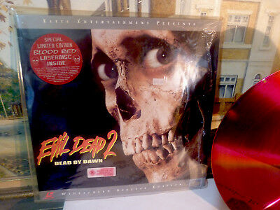 Evil Dead 2 'Dead By Dawn -  Limited Edition 'Blood Red' ' Laserdisc *VGC