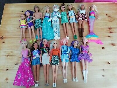 Barbie doll bundle x 16 dolls fashionista mermaid princess Ken