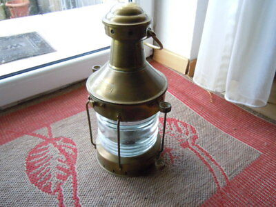Alte Schiffs - Lampe Messing  Original  ANCHOR