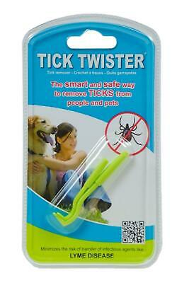 O'Tom Tick Twister Remover Tool For Pet Dog Cat Animal Safe Easy Pack of 2 NEW